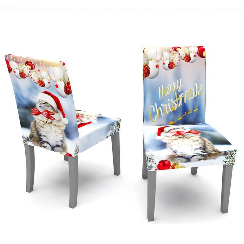 Stretch Washable Dust-Proof Christmas Chair and Table Covers|Decoration Chair slipcovers&Rectangle Tablecloth