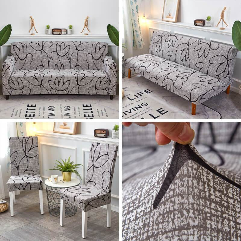 Stretchable Universal Miracle Elastic Couch Covers &Chair Covers, Pillow Covers