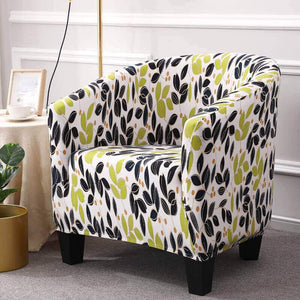 1-Piece Club Chair Slipcover, Stretch Tub Chair Covers