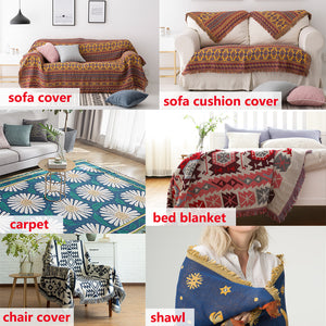 Bohemian Knitted Throw Blankets for Sofa
