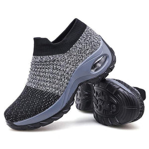 Super Soft stretchable Women's Walking Shoes Sock Sneakers - Mesh Slip On Air Cushion Shoes