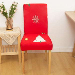 Christmas Elastic Chair Cover