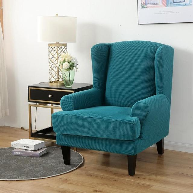 2-Piece Water Repellent Wingback Chair Covers