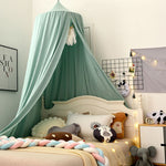 bed canopy-light green