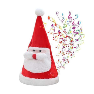 Adult & Children's Santa Hat Adjustable Size Electric Left and Right Swing Singing and Dancing Funny Christmas Hat