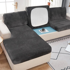 Velvet Stretch Couch Cushion Cover