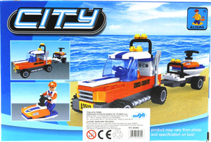 City Jet Ski & Jeep- 124 Pieces