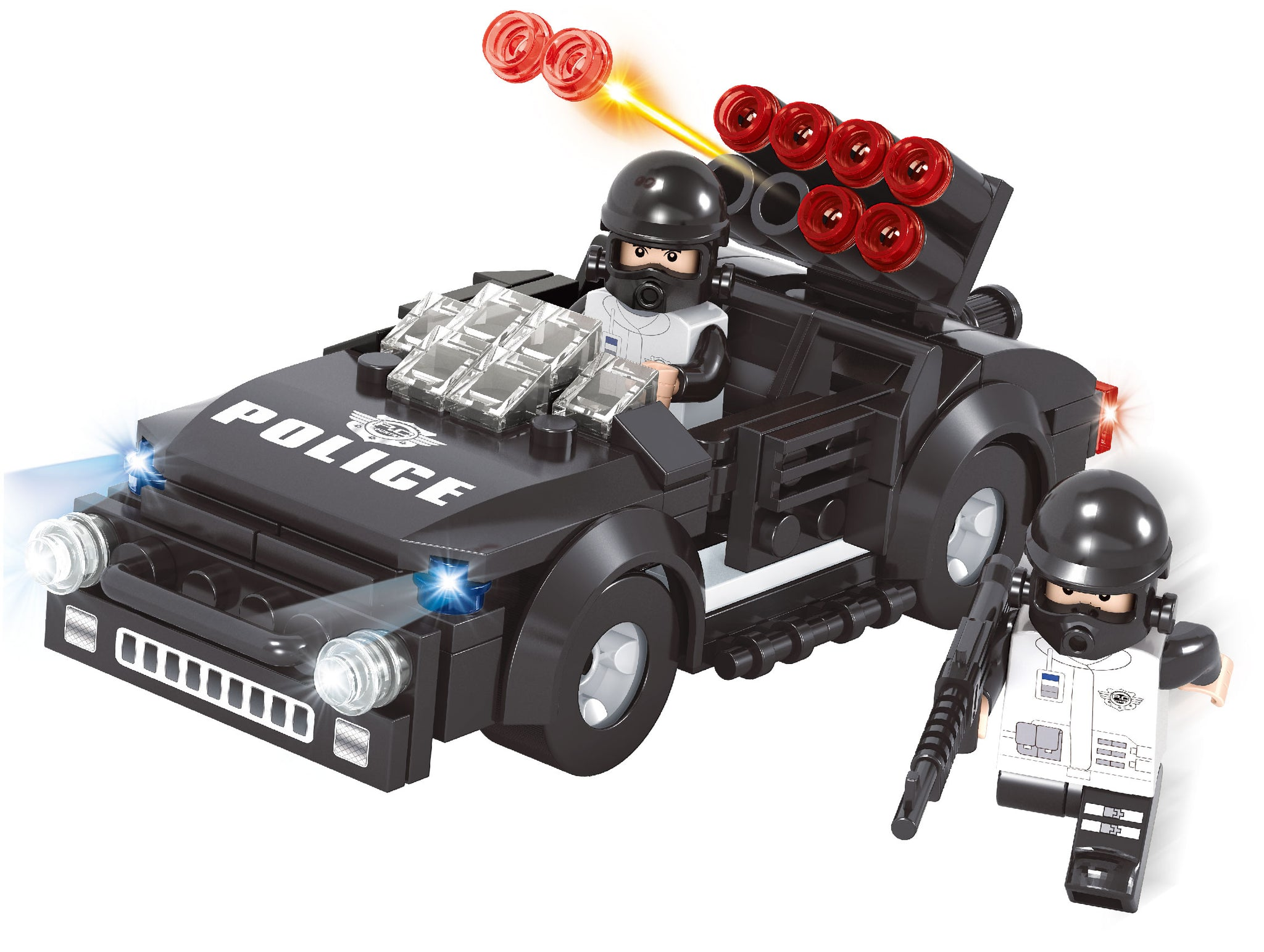 Swat Rocket Launcher Police Jeep- 146 Pieces