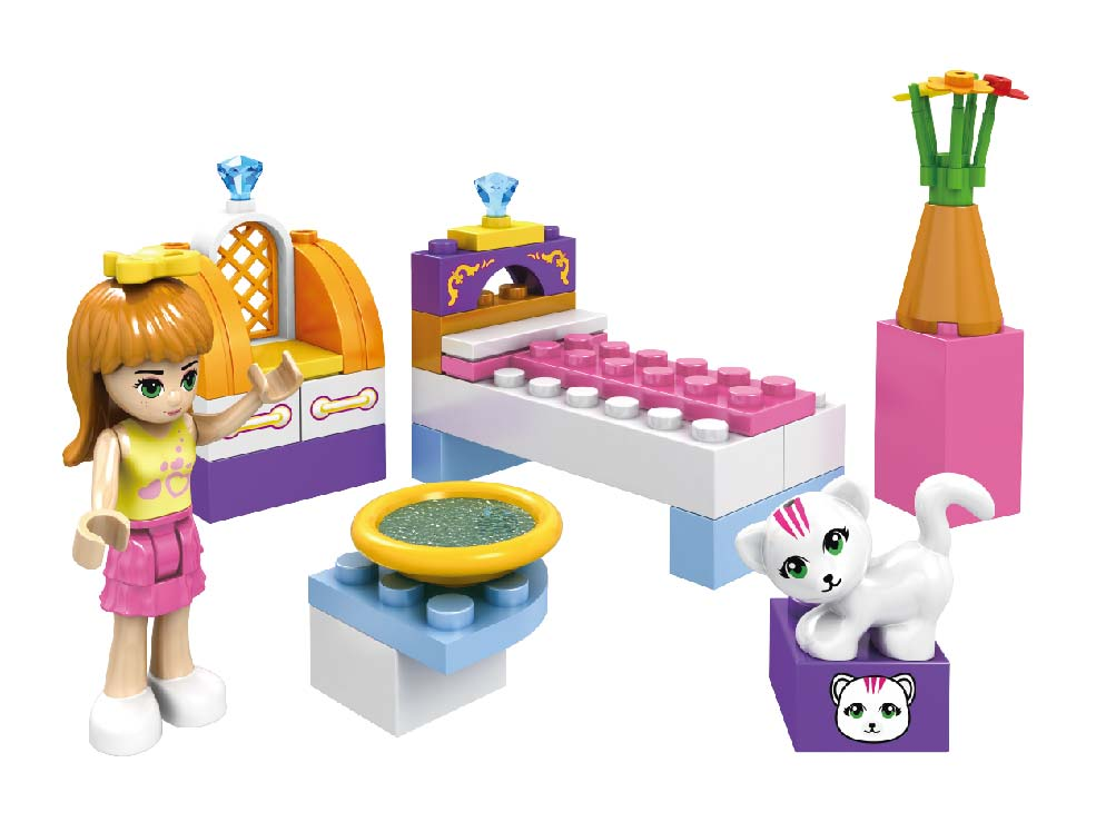 Fashion Girl Cat Room- 41 Pieces
