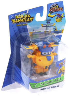 Super Wings Single Figure Transforming Builder Donnie