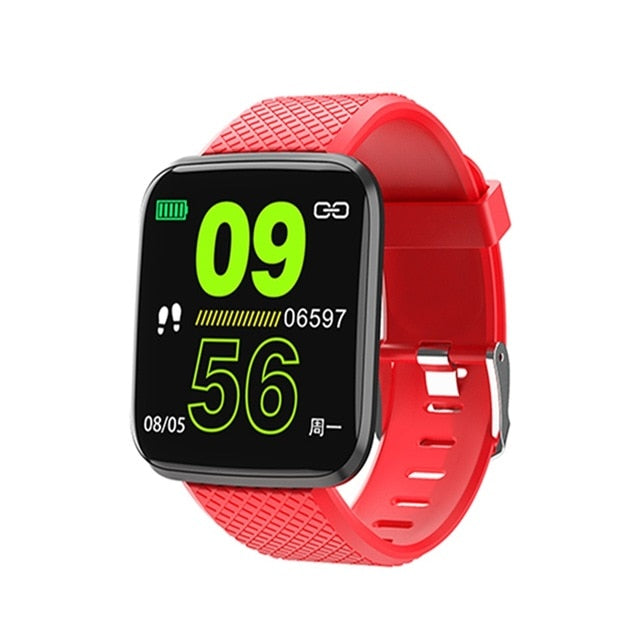 New 116 Pro / Plus2 UI Update Smart Watch HR Blood Pressure Monitor Multi Sports Reminder Fitness Smart Watch for Dropshipping