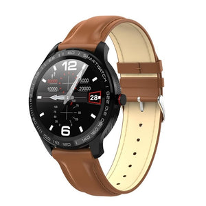L9 ECG PPG Smart Watch Men Sports Heart Rate Bluetooth Smartwatch Waterproof IP68 Blood Pressure Oxygen Leather Watch Women