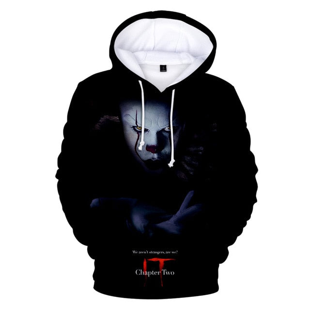 Pennywise Halloween Party Hoodies 3d for Kid Men Pop Harajuku Halloween Costume Idea Sweatshirt Cotton Plus Streetwear Drop Ship