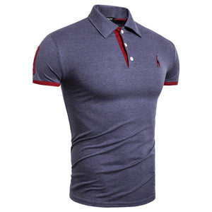 Dropshipping 17 Colors Brand Quality 100% Cotton T-Shirts Men Solid Slim Fit Patchwork Embroidery T Shirt Men US S-3XL