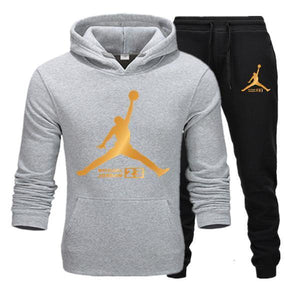 New Tracksuit men Sportswear Set Fleece Hoodie suit Jordan letter print Malechandal hombre Spring Autumn winter hoodie+Pants Set