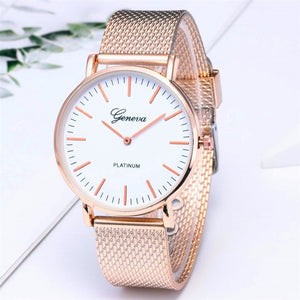 2019  reloj mujer Silver Women Watch Fashion Rose Gold Stainless Steel women watch Mesh belt Ladies Wrist Watch relogio feminino
