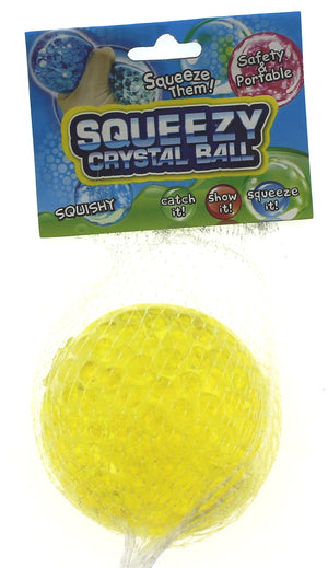 Squishy Stress Ball Yellow Crystal Slime