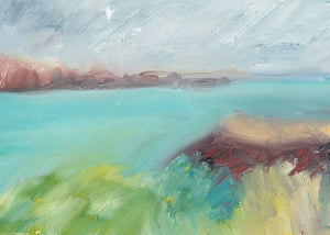 Menorca Seascape in Oil Sticks