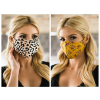New Arrival! Reusable Women's Face Mask - Khaki and Mustard