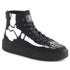 Skeleton Bone Hi Top Skeakers by Demonia Footwear