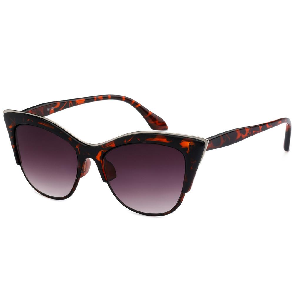 Tortoise Cat Eye Silver Sunglasses - The Atomic Boutique