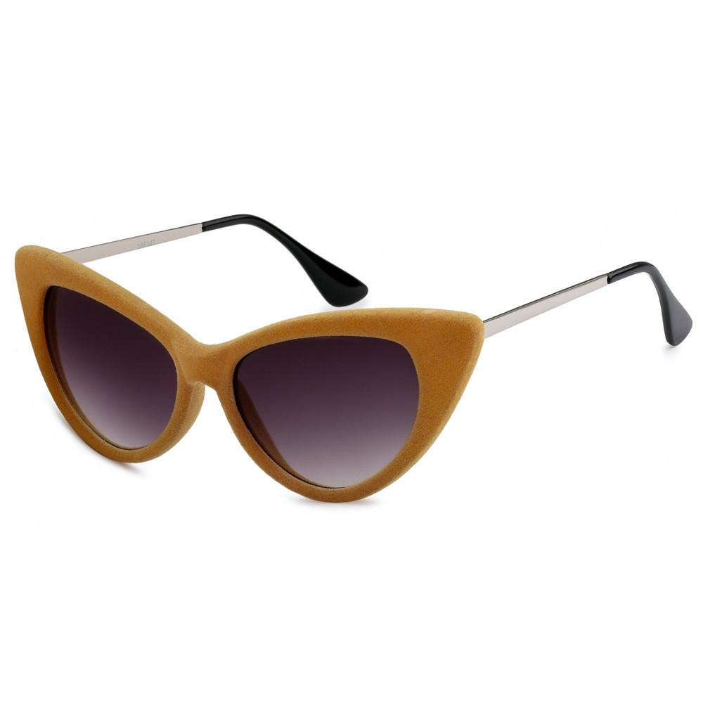 Velvet Cat Eye Sunglasses Cream - The Atomic Boutique