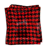 Black Red Houndstooth Retro Chiffon Oblong Scarf - The Atomic Boutique