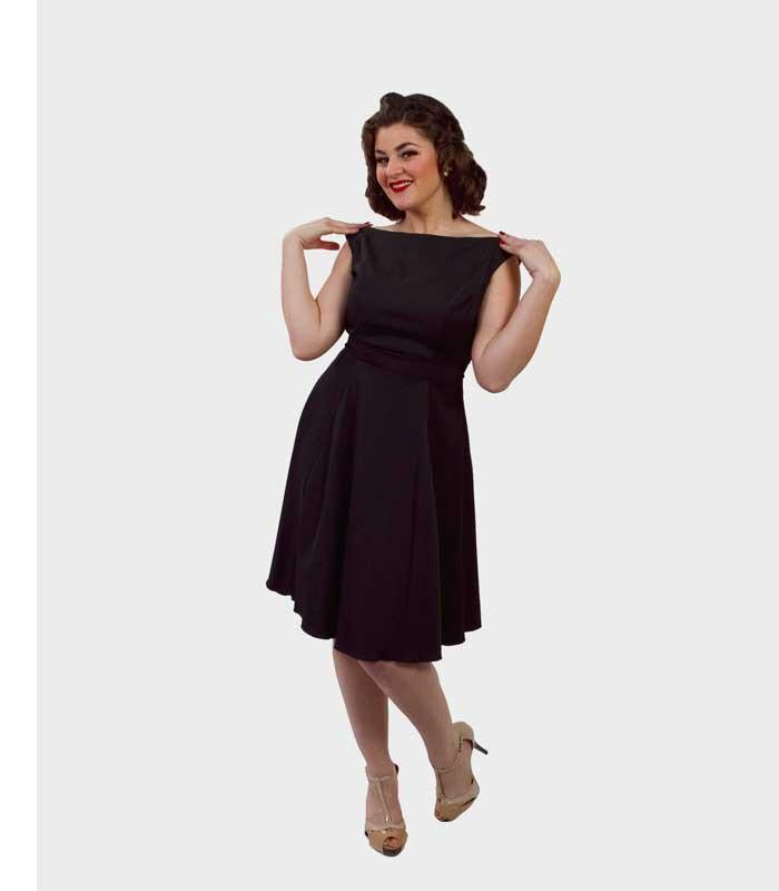 Queen of Heartz Penny Black Dress - The Atomic Boutique