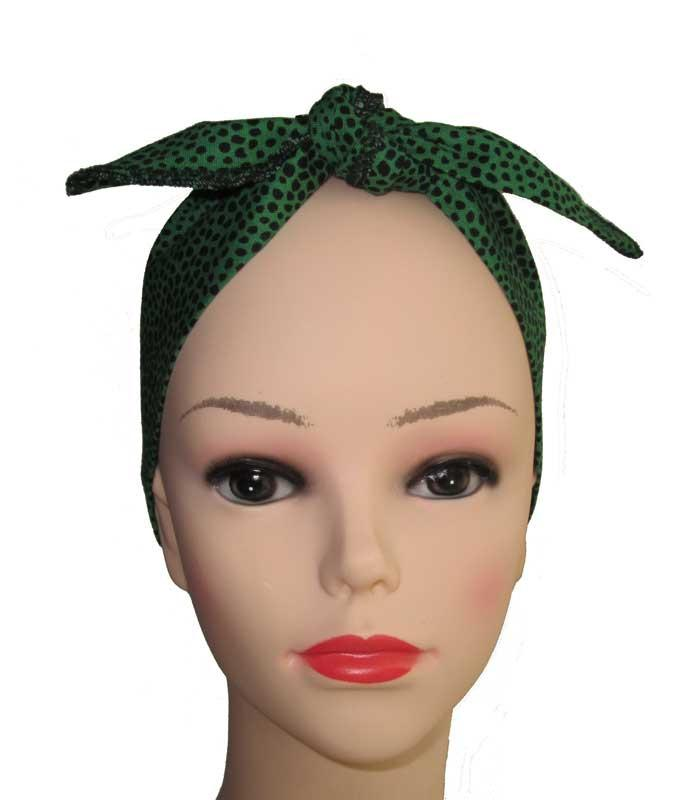 Green Leopard Fabric Head Wrap Scarf - The Atomic Boutique  - 2