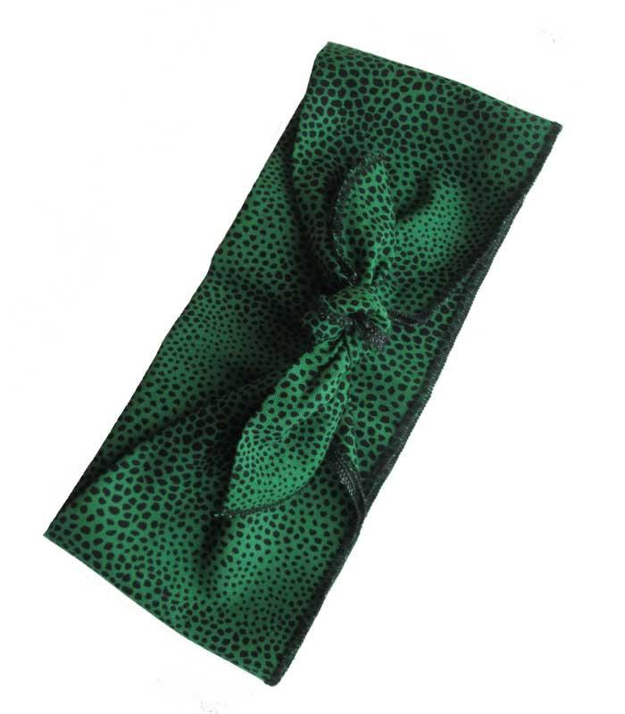 Green Leopard Fabric Head Wrap Scarf - The Atomic Boutique  - 3
