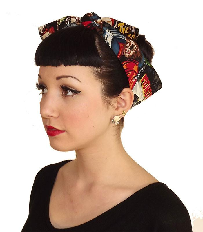 Horror Monster Fabric Head Wrap Scarf - The Atomic Boutique  - 1