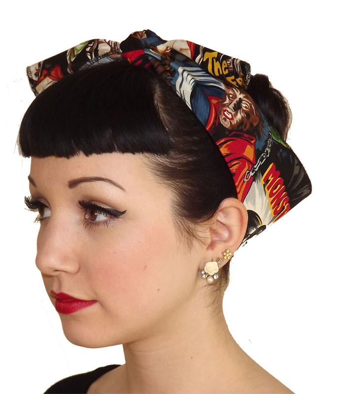 Horror Monster Fabric Head Wrap Scarf - The Atomic Boutique