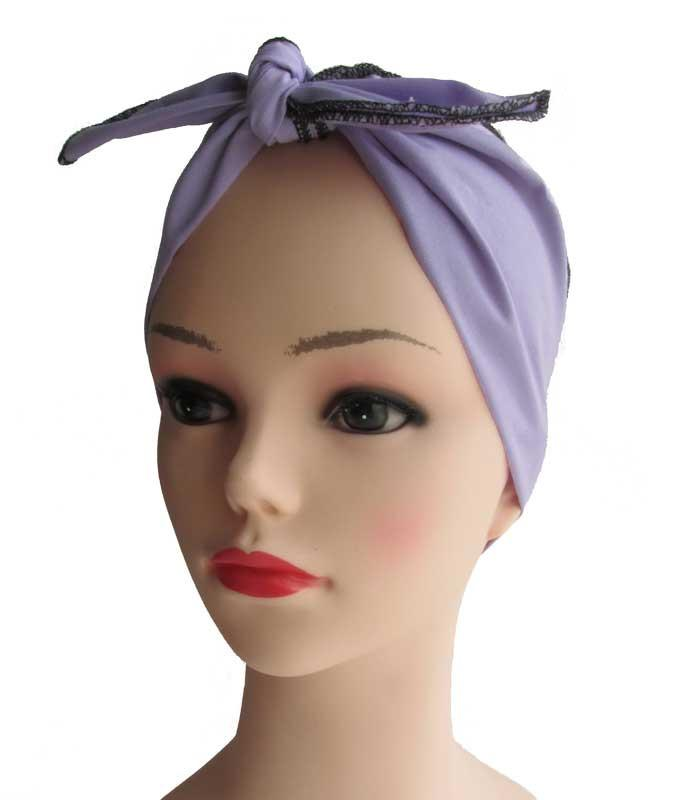 Lavender Fabric Head Wrap Scarf - The Atomic Boutique