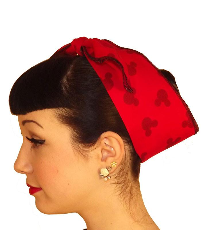 Mickey Ears Fabric Head Wrap Scarf - The Atomic Boutique