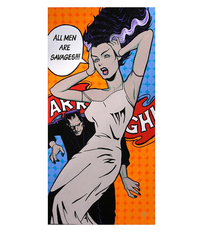 All Men Are Savages by Mike Bell Fine Art Giclee Canvas Print - The Atomic Boutique