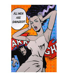 Lowbrow Art Company All Men Are Savages Art Print by Artist Mike Bell - The Atomic Boutique