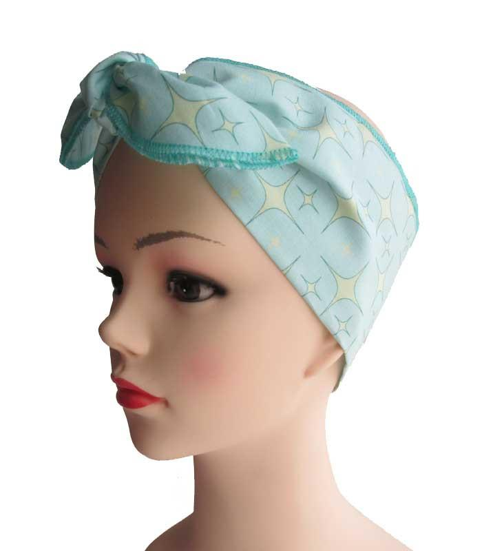 Atomic Starlite Mint Fabric Head Wrap Scarf - The Atomic Boutique  - 1