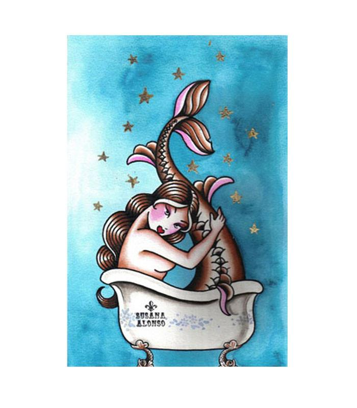 Black Market Art Company Bath Art Print by Artist Susana Alonso - The Atomic Boutique