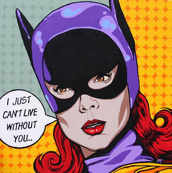 Bat Love 1 by Mike Bell Fine Art Giclee Canvas Print - The Atomic Boutique  - 2