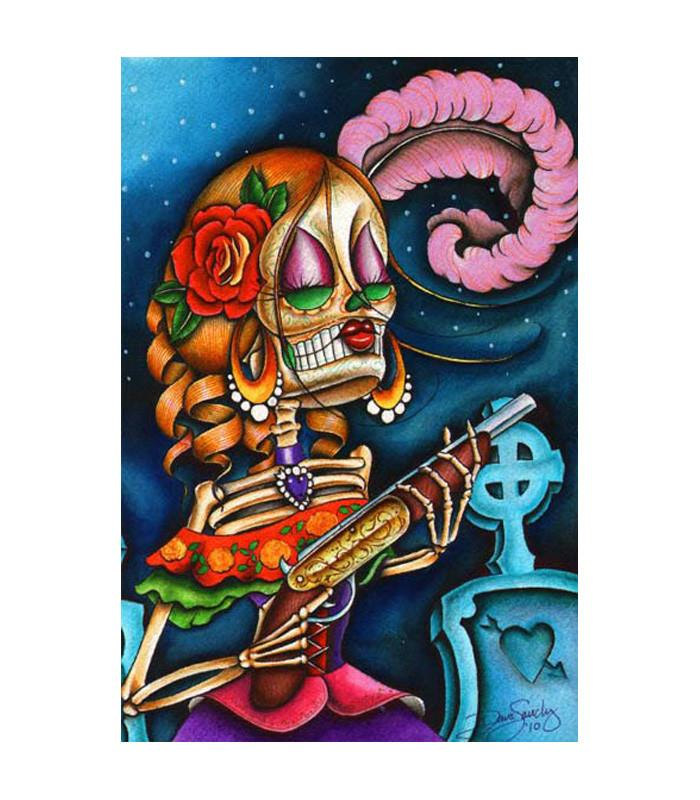 Black Market Bonita Art Print by Artist Dave Sanchez - The Atomic Boutique