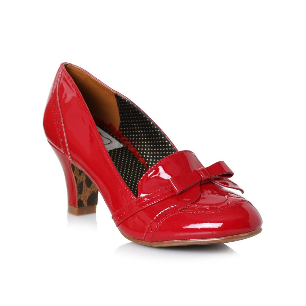 Sadey Red Closed Toe Loafer Heels - The Atomic Boutique