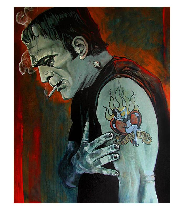 Brokenhearted by Mike Bell Fine Art Giclee Canvas Print - The Atomic Boutique
