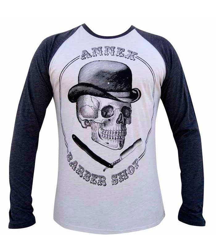Barber Shop Mens Raglan Baseball Tee - The Atomic Boutique