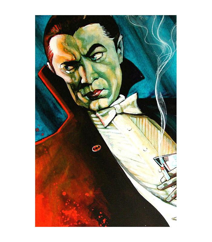 Bat Man Dracula Fine Art Print - The Atomic Boutique