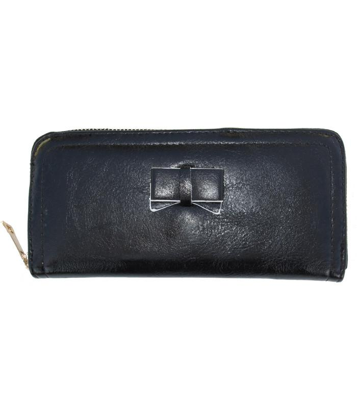 Black Bow Wallet - The Atomic Boutique