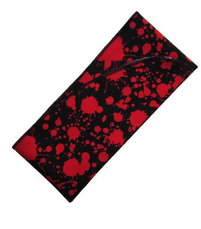 Blood Splatter Black Fabric Head Wrap Scarf - The Atomic Boutique  - 3