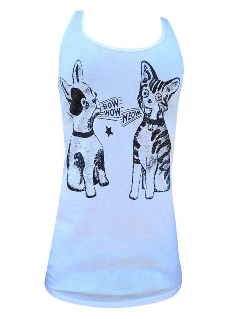 Bow Wow Meow Women Tank Top - The Atomic Boutique
