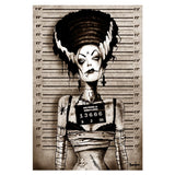 Bride Mugshot Art Print by Artist Marcus Jones - The Atomic Boutique