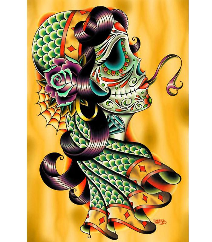 Cold Blooded Gypsy Art Print by Artist Tyler Bredeweg - The Atomic Boutique
