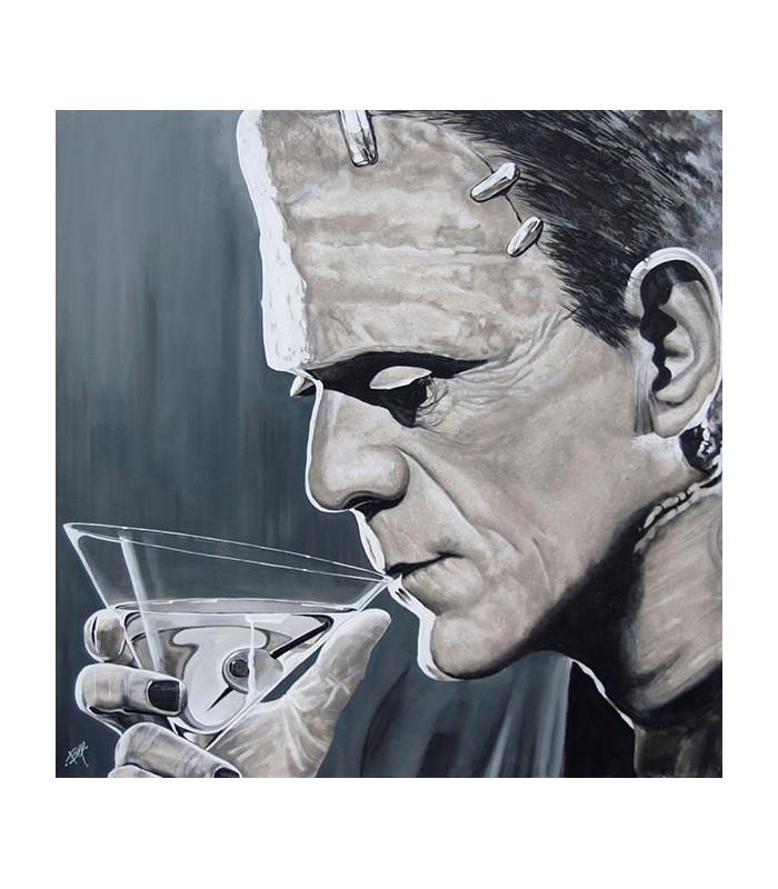Contemplative Cocktail by Mike Bell Fine Art Giclee Canvas Print - The Atomic Boutique